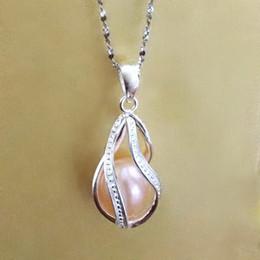 925 argent tordu forme de perle forme de perle cage de médaillon, en argent sterling Helix pendentif montage pour bricolage bracelet collier boucle d'oreille en Solde
