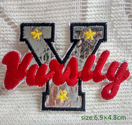 Embroidered Letter Iron Patches Canada - English Letter Y beautify jacket Iron on Embroidered patch Gift shirt bag trousers coat Vest Individuality