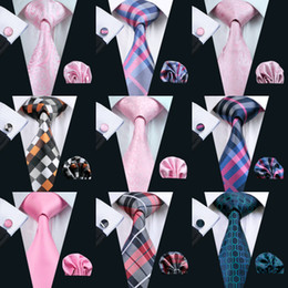 Chinese  900 styles Classic Wholesale New Style Mens Tie Set Silk Hanky Cufflinks Jacquard Woven Necktie Men's Tie Set Business Party Work Wedding manufacturers