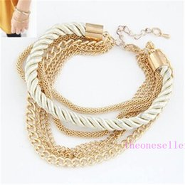 Weaved Bracelets NZ - Woman Bracelet Weave Chains Fashion Girls Women Accessory 2016 Lady Party Dress Bracelets Chain 6 Colors D5860