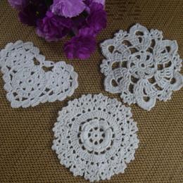 $enCountryForm.capitalKeyWord Canada - 30pcs 8-13cm Crocheted Doilies Placemats for Wedding White Crochet applique decor Tablecloth mats Vintage Coaster Pads Disc Cup Mat aa3h13