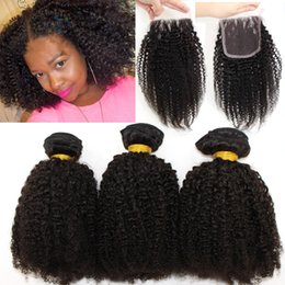 $enCountryForm.capitalKeyWord Canada - 8A Peruvian Afro Kinky Curly Hair With Closure Human Hair Weave 3 Bundles With Closure Kinky Curly Peruvian Hair With Closure