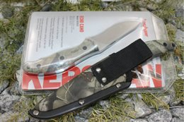 Discount echo tools - Kershaw 1070C Echo Vorstellung Tactical Fixed Blade Knife 8Cr13MOV Camo Handle Titanium Camping Hunting Survival Pocket