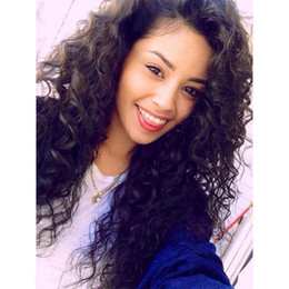 best hair wigs for black women Canada - 7A Best Brazilian Lace Front Wig Glueless Full Lace Wig With Baby Hair Kinky Curly Full Lace Human Hair Wig For Black Women