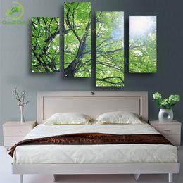 $enCountryForm.capitalKeyWord Canada - 4 P Modern Tree Painting Canvas Decoracion Pictures Cuadros Wall Art Home Decor For Living Room Prints Unframed Wedding