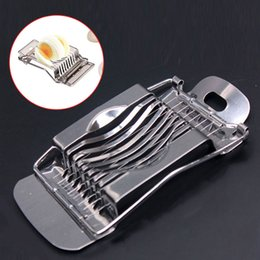 tomato slicer cutter NZ - Stainless Steel Boiled Egg Slicer Section Cutter Mushroom Tomato Cutter For Cooking Tool