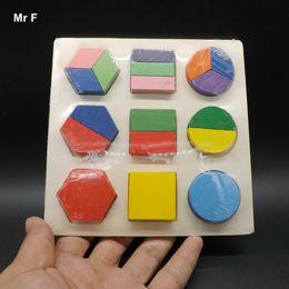 Kids Block Games Australia - Colorful Geometry Shape Wooden Block Toy Montessori Game Children Kid Gift Teaching Toy Teaching Toy Fun Gift Game Kid