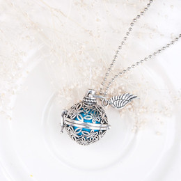 Discount wish box pendant wholesale - Wholesale- DoreenBeads Pregnancy Baby Wish Box butterfly Pendants with blue sounding beads Copper Silver tone Fashion Ne