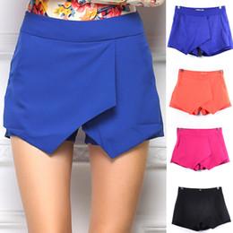 $enCountryForm.capitalKeyWord Canada - Sexy Western Big Celebrity Slim Skorts Shorts For women Fashion Criss- Cross Cascade Irregular Shorts Skirts Hot Summer shorts