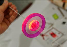 $enCountryForm.capitalKeyWord Australia - Cheap Led Fidget Spinner for Kids Led Toys Sound Lighted UFO Pull light-emitting flywheel flash top hand flying saucer Spinning Toys Gifts