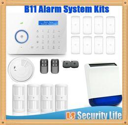 Gsm Pstn Dual Alarm NZ - Hot selling Chuango B11 Dual network PSTN and GSM burglar Security Alarm System P488kit