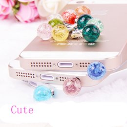 cell phone plugs caps NZ - Wholesale-2016 Hot Sale Luminous Crystal Glow Anti Dust Cap Earphone Jack Plug Stopper For Cell Phone Free Shipping