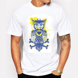 b72b36b84 Owl Men Shirt Canada - New 2016 Men's Fashion Short Sleeve Night Warrior Owl  Printed T