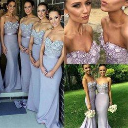 2017 Elegant Lilac Long Bridesmaid Dress Mermaid Sweetheart Appliques  Beaded Maid of Honor Dress Vestido Para Madrinha De Casamento 2016 f7270b76337b