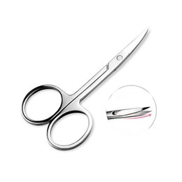 Discount bent nose - Wholesale-BIOAQUA Stainless Steel Scissors Eyebrow Trimmer Cosmetic Makeup Tools Bending Tool Nose Hair Cut Eyelid Small