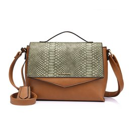 Patchwork Plaid Handbags Canada - Hot fashion women handbag flap female crossbody bag with patchwork ladies messenger bag