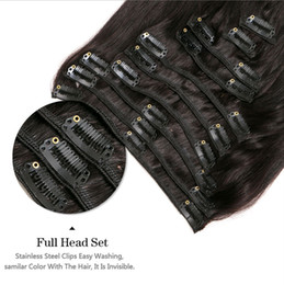 curly kinky african hair Canada - Indian Virgin Hair African American afro kinky curly hair clip in human hair extensions natural clips ins, 70g 100g 120g 140g for choice