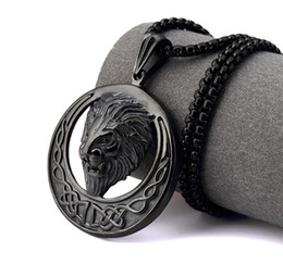 $enCountryForm.capitalKeyWord Canada - Rapper Men HIP HOP Stainless steel nightClub Gold silver black Lion Head face Snake Chain Necklace Kings Lion Head Pendant Necklaces Jewelry