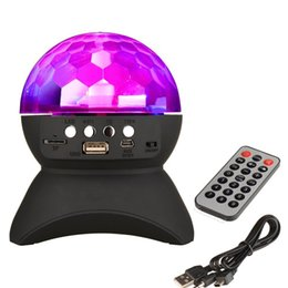 $enCountryForm.capitalKeyWord Canada - RGB LED Crystal Magic Ball Stage Effect Light DJ Club Disco Party Lighting bluetooth speaker With USB  TF FM radio Remote