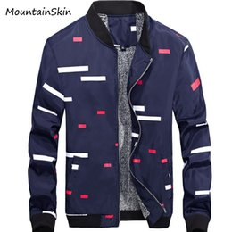 Barato Roupas Grossistas Masculinas Térmicas-Venda por atacado - Mountainkin New Men's Jacket Masculino Casual Warm Thick Spring Coats Moda Interior Fleece Thermal Parkas Brand Clothing LA134