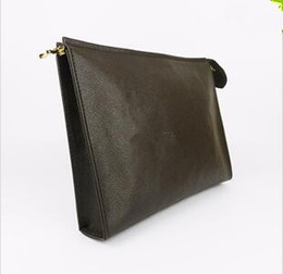Leather toiLetry bags online shopping - New Travel Toiletry Pouch cm Protection Makeup Clutch Women Genuine Leather Waterproof cm Cosmetic Bags For Women Dust Bag
