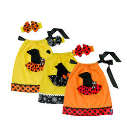 $enCountryForm.capitalKeyWord Canada - 2016 Kids Cheaper price high quality New summer Fashion Halloween costume Witch halloween dress with Bow Headband 2 piece set