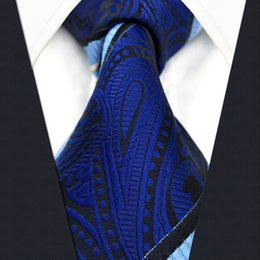 Navy Necktie Canada - B8 Navy Striped Paisley Men Ties Neckties Silk Fashion Novelty Dress Ties for male extra long size