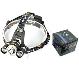 Boruit Headlamps Canada - Free DHL, 5000 Lumen T6+2R5 Boruit Head Light Headlamp Outdoor Light Head Lamp HeadLight Rechargeable by 2x 18650 Battery Fishing Camping
