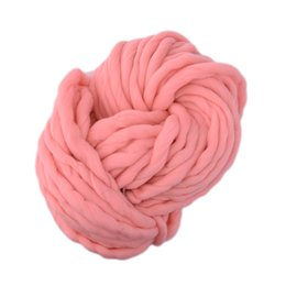 $enCountryForm.capitalKeyWord UK - Super Thick ply yarn 7Color Soft Wool Roving Bulky Big Yarns Spinning Hand Knitting Thread Crochet Yarn for Hat Scarf Knitting