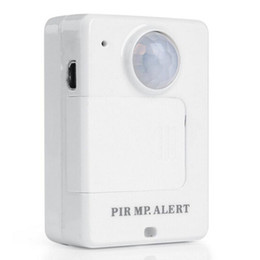 security alarms for homes NZ - Portable Motion Dection Mini PIR Alert Infrared GSM Alarm A9 White with Call Back Function for Home Security