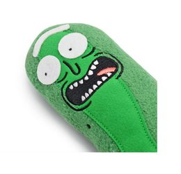 Christmas Movie Costumes UK - 19cm Rick and Morty Pickle Rick Plush Stuffed Toy Doll TV Series Movie halloween cosplay costume Christmas gifts for kids