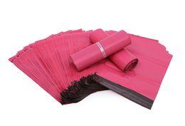 Großhandel 100 teile / los Rosa Poly Mailer 10 * 13 zoll Express Tasche 25 * 35 cm Mail Taschen Umschlag / Selbstklebende Dichtung plastiktüten beutel