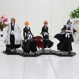 $enCountryForm.capitalKeyWord Canada - 4pcs set anime Bleach figure Kurosaki Ichigo Kuchiki Byakuya PVC Action Figure Model Toy Doll approx 15cm