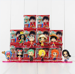 Discount robin toys action figures - One Piece Luffy Nami Robin Chopper Sanji PVC Action Figure Collectable Model Toy for kids gift free shipping EMS