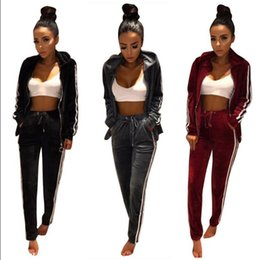 08e93269 Women Velvet Tracksuit Hoodie Sweatshirt Pants Sets Sportwear Button Casual  Suit Jogging Gym Sport Suit 2pcs set OOA3102