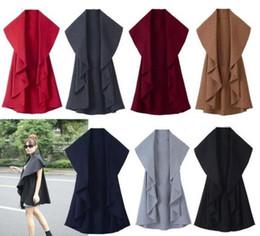 Green Cape Poncho Canada - Free Shipping Hot Sale Women's Fashion Wool Coat, Ladies' Noble Elegant Cape Shawl. ladies poncho wrap scarves coat 2017