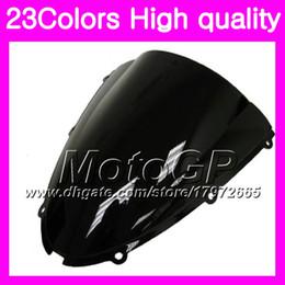 Zx6r Windscreen Australia - 23Colors Windscreen For KAWASAKI NINJA ZX600 ZX6R 05 06 600CC ZX-6R 6 R 600C ZX 6R 2005 2006 Chrome Black GPear Smoke Windshield