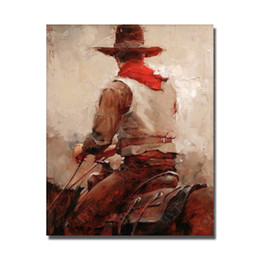 Decorative pictures for beDrooms online shopping - Ride Horse Oil Painting Bedroom Wall Decor Hand Painted Pictures on Canvas Decorative Painting for Sell No Framed