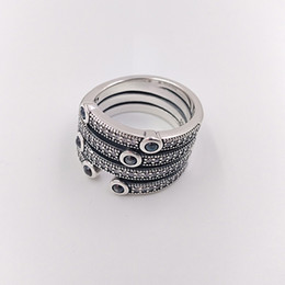 accf3de2b Ocean wedding rings online shopping - Authentic Sterling Silver Rings  Shimmering Ocean Ring Fits European Pandora