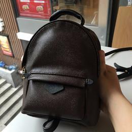 Palm Springs Mini sac à dos en cuir véritable enfants sacs à dos femmes impression en cuir Mini sac à dos 41560 en Solde