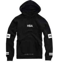 Hba Hoodie online shopping - Fashion brand hip hop hoodie hba classic circle printing fleece thick polerones hombre plus size tracksuit autumn winter