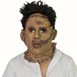 animal scary halloween costumes Canada - The Texas Chainsaw Massacre Leatherface Masks Scary Movie Cosplay Halloween Costume Props High Quality Toys