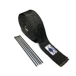Новая черная выхлопная гайка с моторным затвором Мотоцикл выхлопной трубы Термостойкая обмотка 5М с 6 штуками Кабельные запорные галстуки