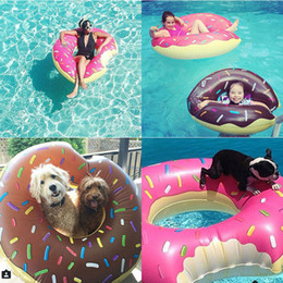 $enCountryForm.capitalKeyWord Canada - Hot Colorful Donut Swimming Pool Toy Doughnut Inflatable Toy Swan Flaming Swimming Ring Bread Swimming Pool Spare Tire PVC Flotador Donut