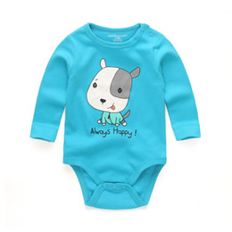 Barato Bebê Barato Roupas Manga Longa-7017 baby rompers High Quality Stripe Round Collar Long Sleeves Body suit Baby Cheap Unisex Newborn Clothes 0-12 meses