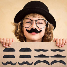Self adheSive muStache online shopping - Halloween Self Adhesive Fake Mustache Set Novelty Mustaches Party Favor Mustache Black Mustaches for Masquerade Party Performance