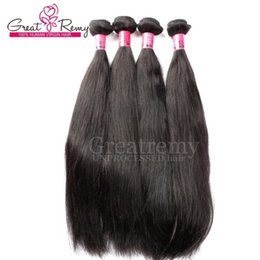 China Greatremy® Peruvian Unprocessed Human Hair Extensions 8A Double Weft 4pcs lot Natural Silky Straight hair Weave USPS fast Shipping to US cheap fast unprocessed human hair suppliers
