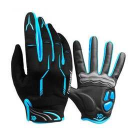 Gloves bicycle Gel online shopping - Cycling Gloves Touch Screen GEL Bike Sport Shockproof Gloves For Man Woman MTB Road Bicycle Full Finger Phone Gloves