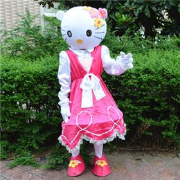 kitty mascot costume 2019 - Hotsale Mascot Costume Adult Size Hig Quality pink sweet Hello Kitty Cartoon Character Costumes Fancy Dress Suit