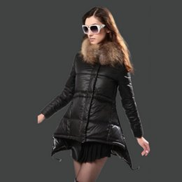 Discount Women Pink Down Coat Fur Hood | 2017 Women Pink Down Coat ...